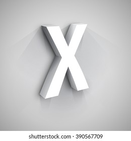 Abstract Vector Logo Design Template. Creative 3d Concept Icon. Letter X Stylization