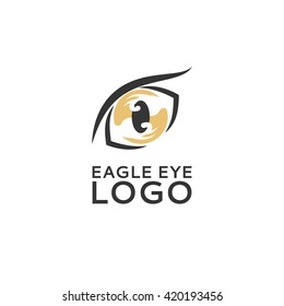 Abstract vector logo of eagle eye. Universal premium elegant creative symbol.
