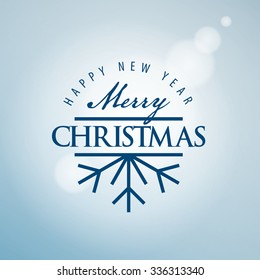 Abstract vector logo for Merry Christmas and New Year