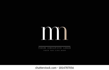 abstract vector logo monogram template