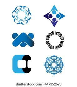 Abstract Vector Logo Set Design Template. Creative Concept Icons