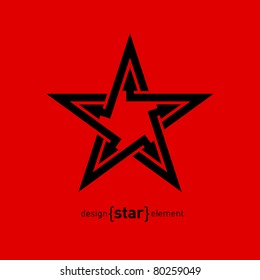 Abstract vector logo, star with arrows. Company design element