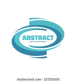Abstract - vector logo template concept illustration. Smooth form. Geometric sign. Design element.