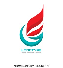 Abstract vector logo template concept illustration. Flag business sign. Letter G symbol. Flame fire icon. Gas insignia. Design element.