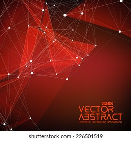 Abstract vector mesh background. Futuristic technology style. Elegant background for business presentations. Flying debris. eps10