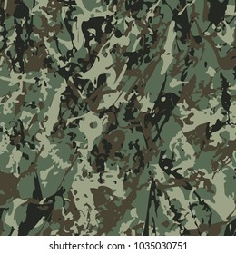 Abstract Vector Military Camouflage Background Made of Splash. Camo Pattern for Army Clothing.