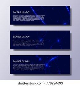Abstract vector modern banners with lines and waves / annual report /design templates / future Poster template design