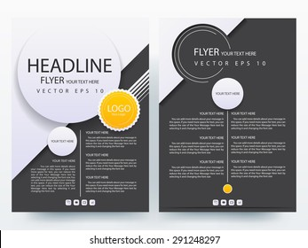 Abstract vector modern flyer brochure / annual report /design templates / stationery with white background in size a4