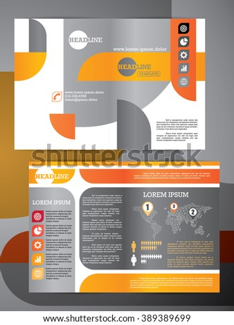 abstract vector modern flyer half fold stock vector royalty free