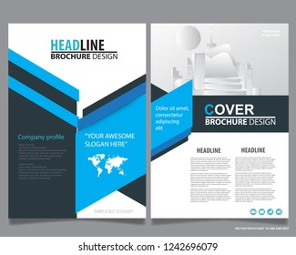 Abstract vector modern flyers brochure / annual report /design templates / Desk Calendar 2019 year template / stationery with grey background in size a4