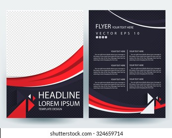 Abstract vector modern flyers brochure / annual report /design templates / stationery with white background in size a4