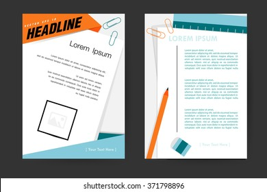 Abstract vector modern flyers brochure, booklet, annual report,design templates with white background in size a4.