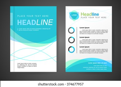 Abstract vector modern flyers brochure, booklet, annual report, design templates with white background in size a4.