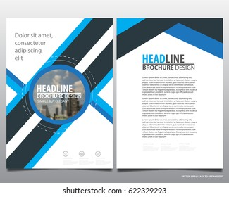 Abstract vector modern flyers brochure / annual report /design templates / stationery with grey background in size a4