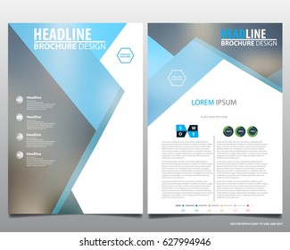Abstract vector modern flyers brochure, annual report, design templates, stationery with grey background in size a4