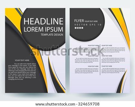 abstract vector modern flyers brochure annual stock vector royalty