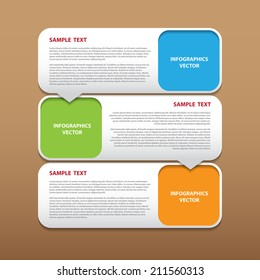 The abstract vector modern infographics for creative work