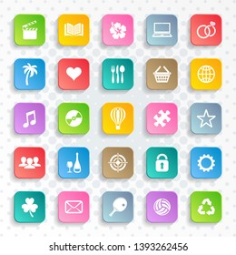 Abstract vector modern universal web and mobile icons