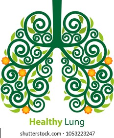 Abstract vector, modification of the lungs into decorative, or floral styles.