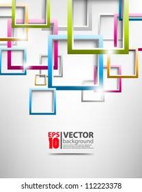 abstract vector multicolor square design eps10