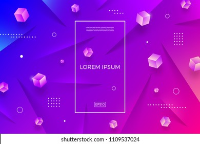 Abstract vector multicolored background with cubes. Vector illustration. Multipurpose design can be used as cover, poster, flyer or web page background.