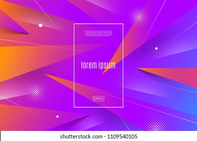 Abstract vector multicolored background with dynamic geometric shapes and lines. Vector illustration. Multipurpose design can be used as cover, poster, flyer or web page background.