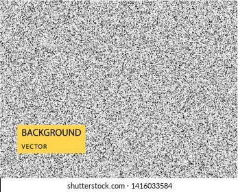 Abstract vector noise. Grunge texture overlay with fine particles on isolated background.
