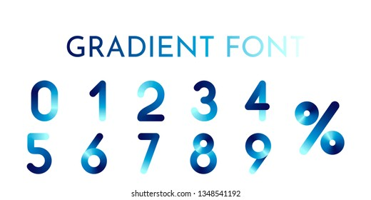 Abstract vector numerals set