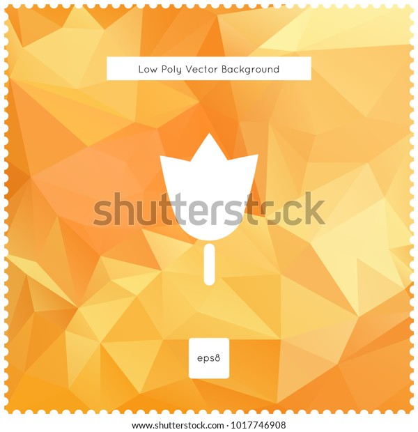 Abstract vector orange polygonal background. The vector illustration for ui, web games, tablets, wallpapers, and patterns.