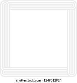 Abstract vector outline frame. Abstract vector background