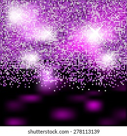 Abstract vector party background with shiny effects.