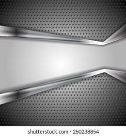 Abstract vector perforated metal background
