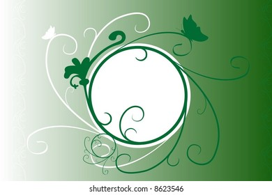 abstract vector plants easy to change colors