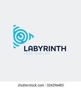 Abstract vector play logo