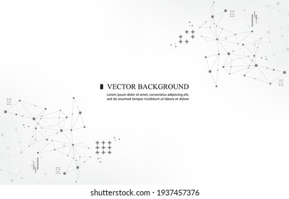 abstract vector polygon geometric template white background