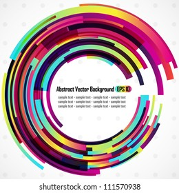 Abstract vector rainbow circles background - EPS 10