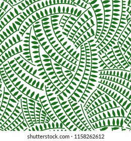 Abstract vector repeating illustration, decorative ornamental stylized endless leaves.