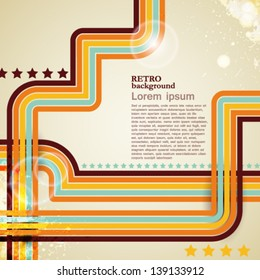 abstract vector retro lines background