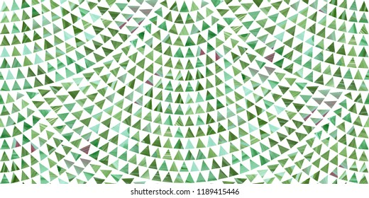 Abstract vector scaly seamless pattern from triangular green fir trees with hand painted brush stroke texture on a white background.Floor tile, wallpaper, Christmas and New Year holiday wrapping paper