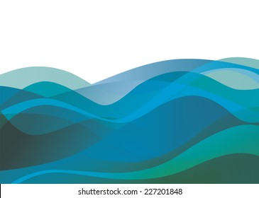Abstract vector sea water texture background.