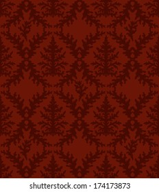 Abstract vector seamless floral background. Damask pattern.