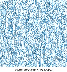 Abstract vector seamless pattern with bird feathers texture