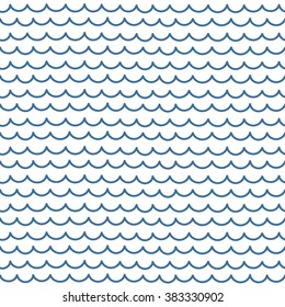 Abstract vector seamless pattern. Blue and white hipster print with hand drawn stripes and waves. Trendy monochrome texture with hand drawn doodle lines. Stylish linear graphic design.