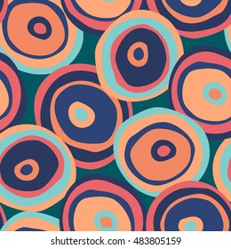 abstract vector seamless pattern with colorful shapes
