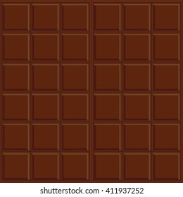 Abstract vector seamless pattern. dark chocolate. Very simple design, chocolate bar, rectangle, square geometric form. Brown, beige colors