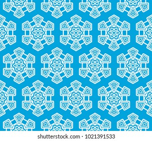 Abstract Vector seamless pattern with abstract geometric style. Repeating sample figure and line. For modern interiors design, wallpaper, textile industry