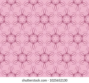 Abstract Vector seamless pattern with abstract geometric style. Repeating sample figure and line. For interiors design, wallpaper, textile industry