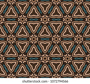 Abstract Vector seamless pattern with abstract geometric style. Repeating sample figure and line. For modern interiors design, wallpaper, textile modern industry.