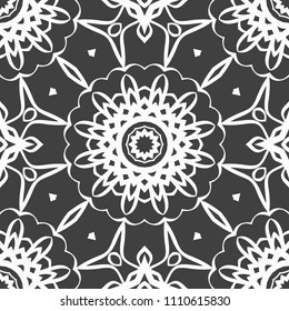 Abstract Vector seamless pattern with abstract geometric style. Repeating sample figure and line. For interiors design, wallpaper, magic textile industry.