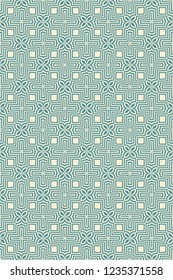 Abstract Vector seamless pattern with abstract geometric style. Repeating sample figure and line. For fashion interiors design, wallpaper, textile industry.